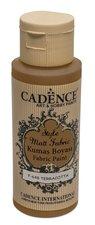 Barva na textil Cadence Style Matt Fabric  cihlová, 59 ml