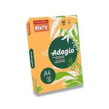 Barevný papír Rey Adagio - A4, 80 g, 500 listů, fluo oranžový