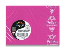 Barevná obálka Clairefontaine - 110×75 mm, samolepicí, růžová