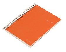 Kroužkový blok Ambar Kraft - mix barev - A4, čtverečkovaný, 150 listů