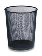 Odpadkový koš - černý, kovový, 15l