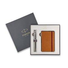 Parker Royal IM Premium Dark Espresso CT - plnicí pero, dárková kazeta se zápisníkem