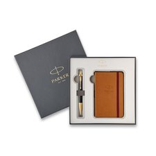 Parker Royal IM Premium Black GT - kuličková tužka, dárková kazeta se zápisníkem