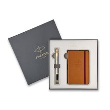 Parker Royal IM Brushed Metal GT - kuličková tužka, dárková kazeta se zápisníkem