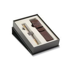 Parker Royal IM Premium Warm Grey GT - kuličková tužka, dárková kazeta s pouzdrem