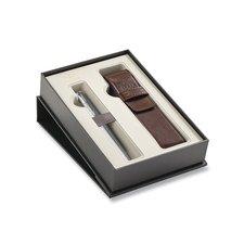 Parker Royal Urban Premium Silver Powder CT - plnicí pero, dárková kazeta s pouzdrem