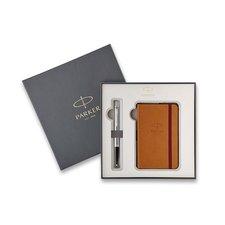 Parker Royal Urban Metro Metallic CT - kuličková tužka, dárková kazeta se zápisníkem