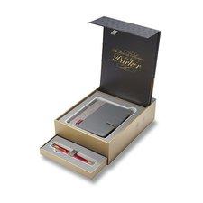 Parker Royal Sonnet Red GT - kuličková tužka, dárková kazeta se zápisníkem