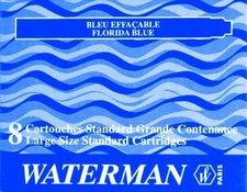 Inkoustové bombičky WATERMAN standardní tmavě modré omyvatelné, 8 ks