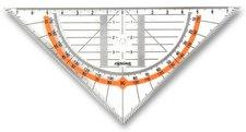 Rotring Geometrický trojúhelník  Cento přepona 16 cm