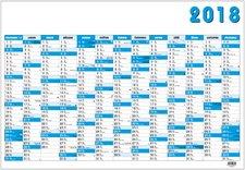 Nástěnný roční kalendář 2018 - modrý
