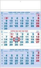 Nástěnný kalendář 2018 - Tříměsíční pracovní, modrý