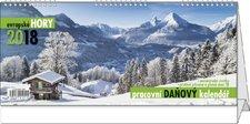 Stolní kalendář 2018 - Pracovní daňový kalendář - Evropské hory