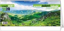 Stolní kalendář 2019 - Pracovní daňový kalendář - Evropské hory