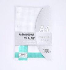 Náhradní vložka A4 100 listů čtvereček
