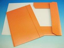 Složka A4 3 klopy s gumou oranžová