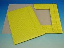 Složka A4 3 klopy s gumou žlutá