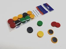 Magnet 852 B/24 kulaté barevné, 20 ks