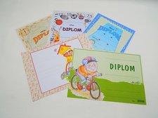 Diplom dětský A4 Cyklistický