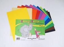 Karton kreslící barevný A4/60/180g - mix 12 barev