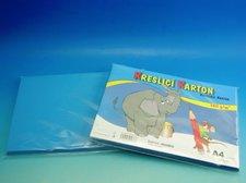 Karton kreslící A4/50ks modrý 180g / ks