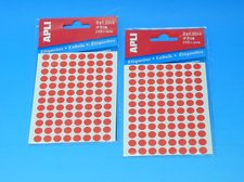 Etikety APLI pr. 8mm červené