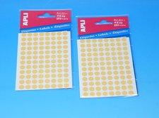 Etikety APLI pr. 8mm žluté
