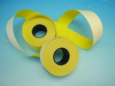 Cenové etikety 25 x 16 pastelová žlutá obdélník