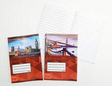 Papírny Brno Sešit 644 Premium A6 linka Svět 40l