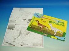 Omalovánky A4 Svět dinosaurů