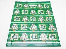 Taška PE Vánoční zelená fantazie 35x46 cm s  průhmatem