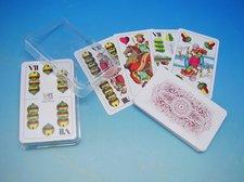 Karty Mariáš dvouhlavý  Plast