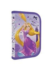 Karton P+P Penál 1 patrový s chlopní, vybavený - Rapunzel