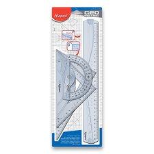 Plastové pravítko MAPED Graphic Maxi, 4dílná sada, pro praváky
