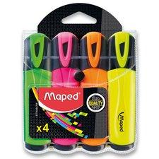 Maped Zvýrazňovač Fluo Peps Classic - sada 4 barev