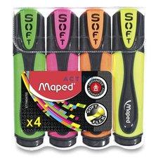 Maped Zvýrazňovač Fluo Peps Ultra Soft - sada 4 barev