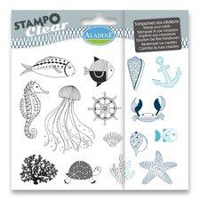 Aladine Razítka gelová Stampo Clear - Mořský svět