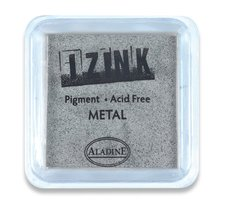Aladine Razítkovací polštářek Izink metalický stříbrný