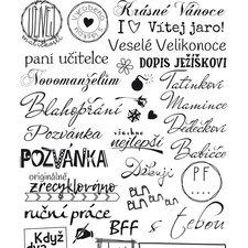Aladine Razítka Stampo Scrap - České nápisy