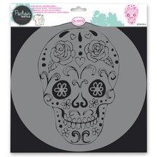 Aladine Plastová šablona - Lebka - 28 x 28 cm