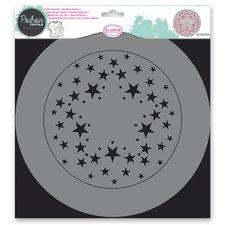 Aladine Plastová šablona - Hvězdy - 28 x 28 cm