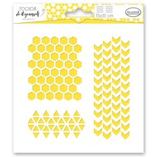 Aladine Plastová šablona - Geometrie a vzory - 15 x 15 cm