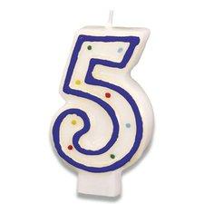"""Dortová svíčka """"5"""""""