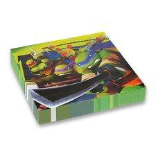 Amscan Papírové ubrousky Želvy Ninja - 33 x 33 cm, 20 ks