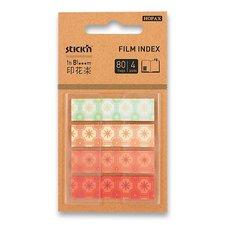 Hopax Samolepicí designové záložky Pop-Up in Bloom - 45 x 12 mm, 4 x 20 listů, kytky