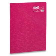 FolderMate Katalogová kniha Nest - A4, 20 folií, růžová