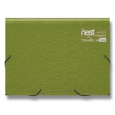 FolderMate Aktovka na spisy Nest - 330 x 240 x 35 mm, zelená