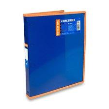 FolderMate 4kroužkový pořadač Pop Gear Plus - A4, modrý