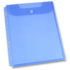 Foldermate Clear - zakládací spisovka s drukem - modrá