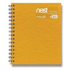 FolderMate Spirálový blok Nest - A5, 120 listů, zlatožlutý